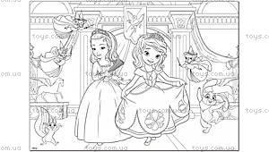 Двухсторонний пазл-раскраска «Принцесса София», 46928, фото