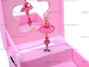 Двухъярусная шкатулка с балериной, 6001-3, цена