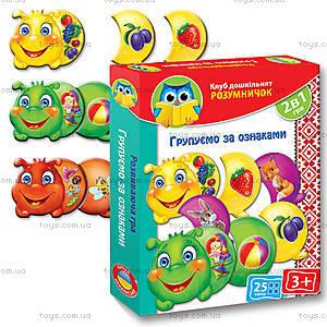 Дидактическая игра «Группируем по признакам», VT1306-02, магазин игрушек