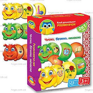 Дидактическая игра «Слышим, видим, нюхаем», VT1306-01, магазин игрушек