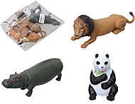 Резиновые игрушки-тянучки «Дикие животные», A01136P