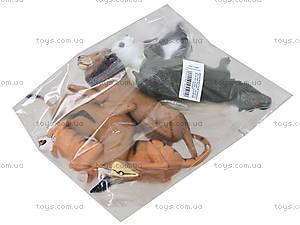 Резиновые игрушки-тянучки «Дикие животные», A01136P, детские игрушки