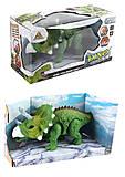 """Динозавр """"Трицератопс"""" 2 цвета, свет, звук, 1383-1, фото"""