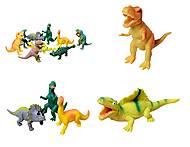 Набор игрушек-тянучек «Динозавры», A044P, фото