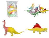 Динозавр-тянучка «Гонконг», 12 видов, A016PG