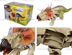 Музыкальный динозавр «Трицератопс», 3302
