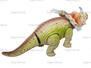 Музыкальный динозавр «Трицератопс», 3302, детские игрушки