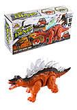 Динозавр-спинозавр музыкальный, светится, ходит, 1382-1, фото