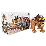 Динозавр «Трицератопс» со звуком (бежевый), WS5301B, купить
