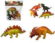 Набор игрушечных динозавров, 4 штуки, E4-A1, фото