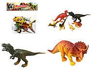 Игровой набор фигурок «Динозавры», 6 штук, E4-A4, фото