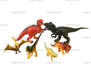 Игровой набор фигурок «Динозавры», 6 штук, E4-A4, детские игрушки