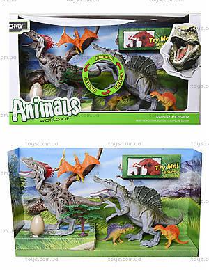 Игрушечные динозавры с аксессуарами, 800-55