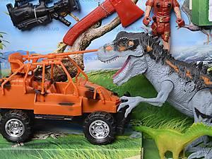 Игровой набор динозавров с аксессуарами, 800-75, цена