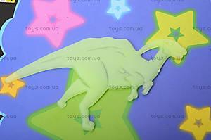Фосфорные наклейки на потолок «Динозаврики», DZ109, фото