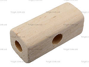 Деревянный конструктор «Бульдозер», 171894, магазин игрушек