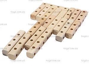 Деревянный конструктор «Бульдозер», 171894, toys