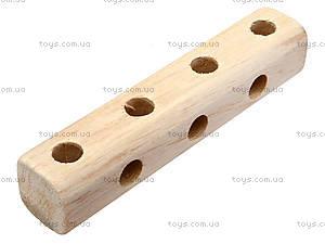 Деревянный конструктор «Паровозик», 171890, игрушки