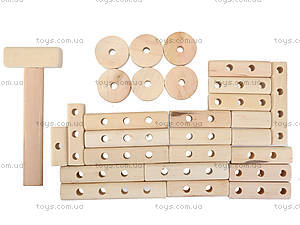 Деревянный конструктор «Паровозик», 171890, детские игрушки