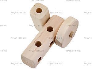 Деревянный конструктор «Паровозик», 171890, магазин игрушек