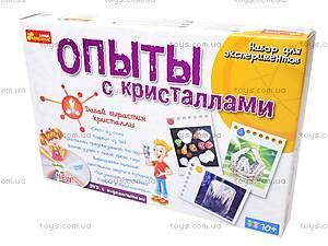 Детские эксперименты «Опыты с кристаллами», 0320