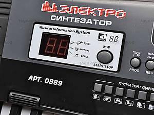 Электро синтезатор, с микрофоном, 0889, игрушки