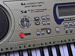 Электро синтезатор с микрофоном, 0892, фото