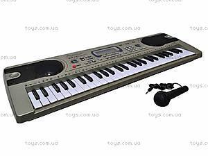 Электро синтезатор с микрофоном, 0892