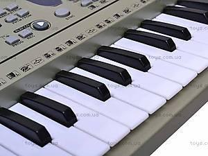 Электро синтезатор с микрофоном, 0892, детские игрушки