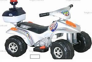 Электроквадроцикл «Полиция», белый, 880