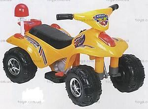 Электроквадроцикл «Полиция», желтый, 889