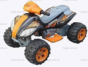 Электроквадроцикл Powerful, черно-оранжевый, 465 ЧЕР