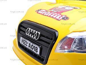 Электромобиль «AUDI» желтый, C-012, купить