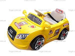 Электромобиль «AUDI» желтый, C-012