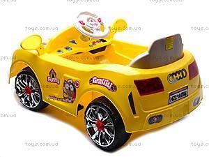 Электромобиль «AUDI» желтый, C-012, цена