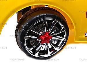 Электромобиль «AUDI» желтый, C-012, детские игрушки