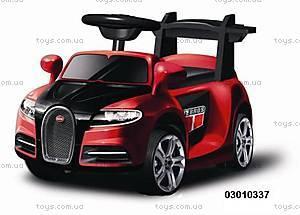Электромобиль Bugatti красный, 03010337