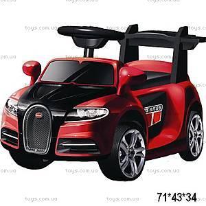 Электромобиль Bugatti, красный, ZPV001-RED