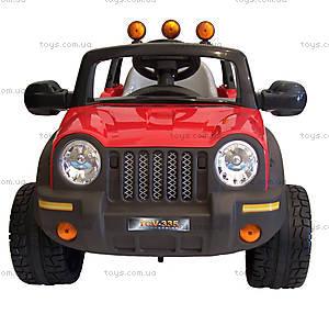 Электромобиль детский «Джип», красный, T-335R, купить