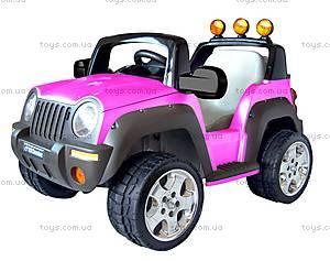 Электромобиль детский «Джип», розовый,