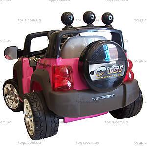 Электромобиль детский «Джип», розовый, , фото