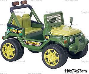 Электромобиль-джип, военный с р/у, BS618-GREEN