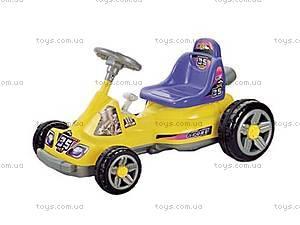Электромобиль «Картинг» желтый, 03010309