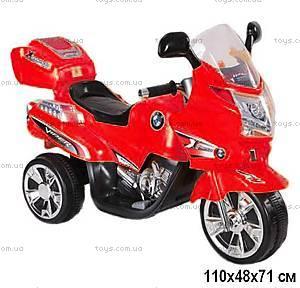 Электромобиль-мотоцикл, красный, YL3188-RED