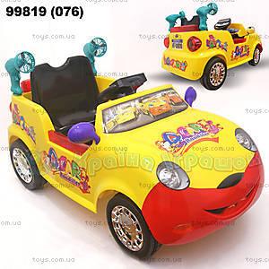 Электромобиль Roadster желтый, 99819 (076)