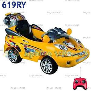 Электромобиль Super Grand желтый, 619R