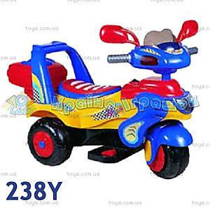 Электромотоцикл «Гоночный», желтый, 238