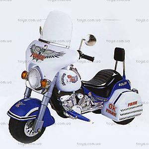 Электромотоцикл Police, синий, 454