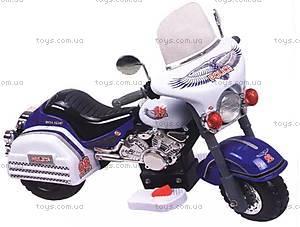 Электромотоцикл «Полиция», белый, 6699