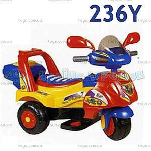 Электромотоцикл Racing, желтый, 236